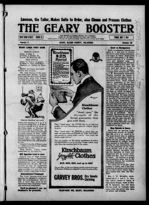 Primary view of object titled 'The Geary Booster (Geary, Okla.), Vol. 3, No. 28, Ed. 1 Friday, May 7, 1915'.
