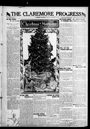 Primary view of object titled 'The Claremore Progress (Claremore, Okla.), Vol. 28, No. 4, Ed. 1 Thursday, December 25, 1919'.
