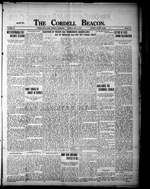 Primary view of object titled 'The Cordell Beacon (Cordell, Okla.), Vol. 20, No. 18, Ed. 2 Thursday, November 16, 1916'.
