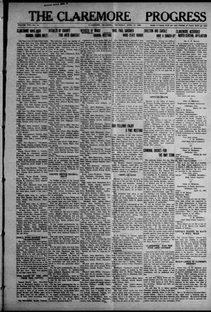 Primary view of The Claremore Progress (Claremore, Okla.), Vol. 30, No. 12, Ed. 1 Thursday, April 27, 1922