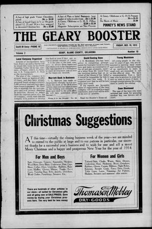 Primary view of object titled 'The Geary Booster (Geary, Okla.), Vol. 2, No. 10, Ed. 1 Friday, December 19, 1913'.
