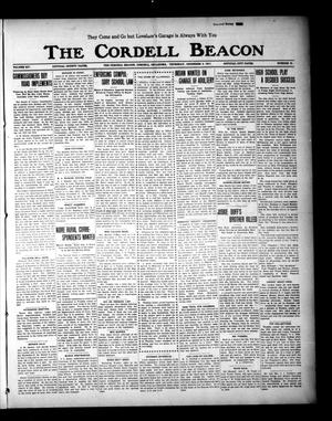 Primary view of object titled 'The Cordell Beacon (Cordell, Okla.), Vol. 19, No. 21, Ed. 1 Thursday, December 9, 1915'.