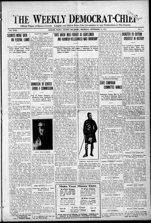 Primary view of object titled 'The Weekly Democrat-Chief (Hobart, Okla.), Vol. 18, No. 7, Ed. 1 Thursday, September 12, 1918'.