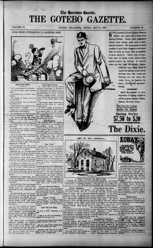 Primary view of object titled 'The Harrison Gazette. The Gotebo Gazette. (Gotebo, Okla.), Vol. 6, No. 40, Ed. 1 Friday, May 17, 1907'.