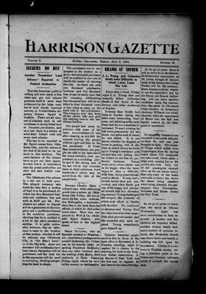 Primary view of object titled 'Harrison Gazette (Gotebo, Okla.), Vol. 3, No. 48, Ed. 1 Friday, July 8, 1904'.