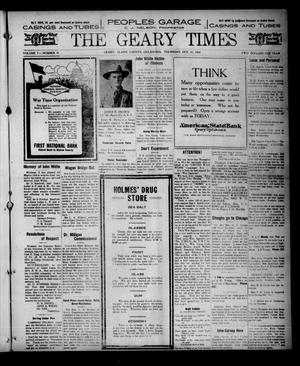 Primary view of object titled 'The Geary Times (Geary, Okla.), Vol. 5, No. 51, Ed. 1 Thursday, October 31, 1918'.