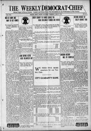 Primary view of object titled 'The Weekly Democrat-Chief (Hobart, Okla.), Vol. 18, No. 39, Ed. 1 Thursday, April 24, 1919'.