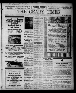 Primary view of object titled 'The Geary Times (Geary, Okla.), Vol. 5, No. 12, Ed. 1 Thursday, January 17, 1918'.
