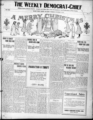 Primary view of object titled 'The Weekly Democrat-Chief (Hobart, Okla.), Vol. 18, No. 21, Ed. 1 Thursday, December 18, 1919'.