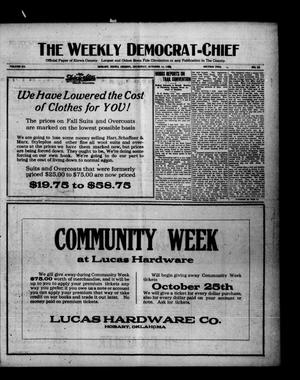 Primary view of object titled 'The Weekly Democrat-Chief (Hobart, Okla.), Vol. 20, No. 12, Ed. 1 Thursday, October 14, 1920'.