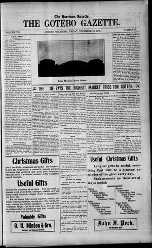 Primary view of object titled 'The Harrison Gazette. The Gotebo Gazette. (Gotebo, Okla.), Vol. 7, No. 18, Ed. 1 Friday, December 13, 1907'.