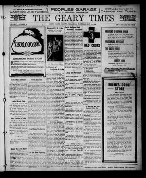 Primary view of object titled 'The Geary Times (Geary, Okla.), Vol. 5, No. 50, Ed. 1 Thursday, October 24, 1918'.
