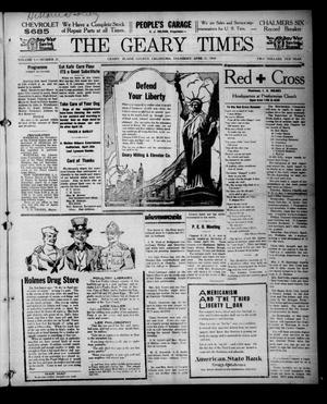 Primary view of object titled 'The Geary Times (Geary, Okla.), Vol. 5, No. 21, Ed. 1 Thursday, April 11, 1918'.