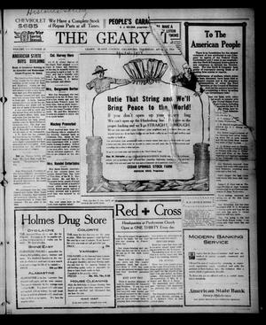 Primary view of object titled 'The Geary Times (Geary, Okla.), Vol. 5, No. 20, Ed. 1 Thursday, April 4, 1918'.