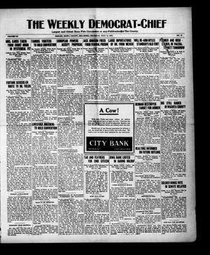 Primary view of object titled 'The Weekly Democrat-Chief (Hobart, Okla.), Vol. 20, No. 51, Ed. 1 Thursday, July 14, 1921'.
