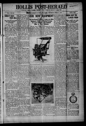 Primary view of object titled 'Hollis Post-Herald (Hollis, Okla.), Vol. 8, No. 50, Ed. 1 Thursday, June 15, 1911'.