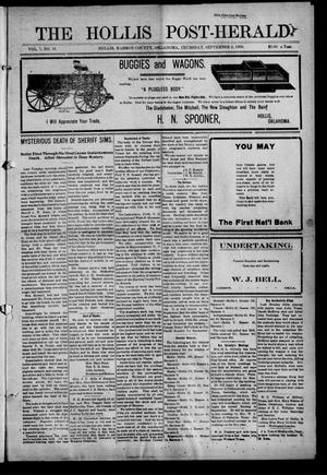 Primary view of object titled 'The Hollis Post-Herald (Hollis, Okla.), Vol. 7, No. 10, Ed. 1 Thursday, September 2, 1909'.
