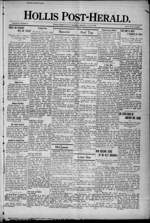 Primary view of object titled 'Hollis Post-Herald. (Hollis, Okla.), Vol. 18, No. 33, Ed. 1 Thursday, June 30, 1921'.
