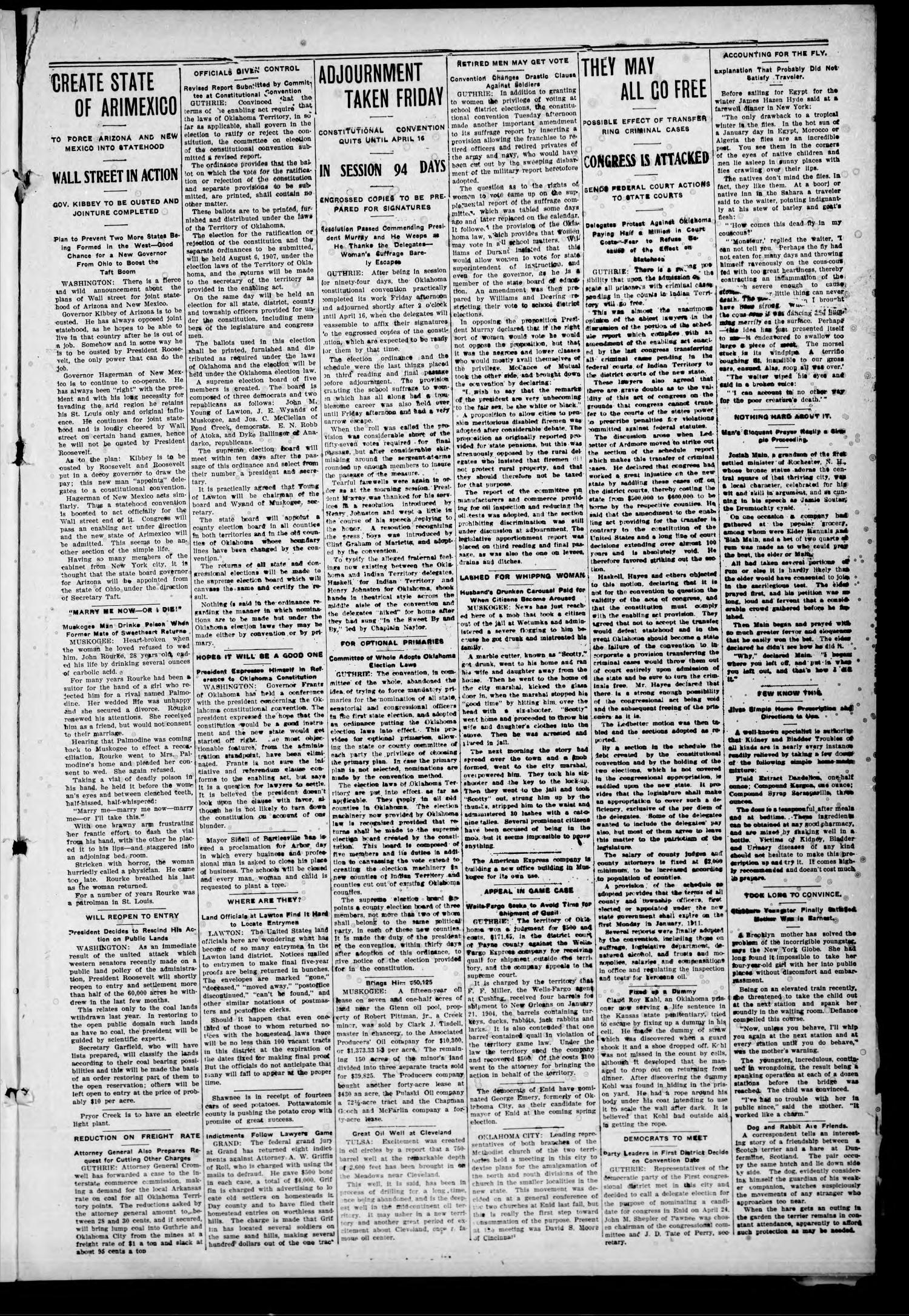The Hollis Post-Herald (Hollis, Okla.), Vol. 4, No. 41, Ed. 1 Thursday, March 21, 1907                                                                                                      [Sequence #]: 9 of 10