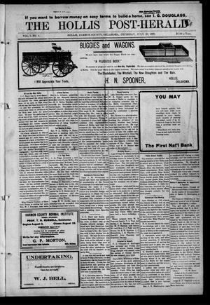 Primary view of object titled 'The Hollis Post-Herald (Hollis, Okla.), Vol. 7, No. 5, Ed. 1 Thursday, July 29, 1909'.