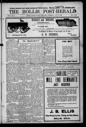 Primary view of object titled 'The Hollis Post-Herald (Hollis, Okla.), Vol. 7, No. 3, Ed. 1 Thursday, July 15, 1909'.
