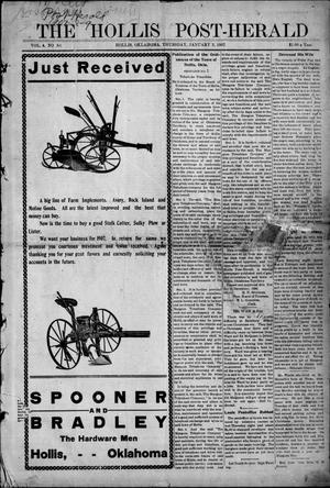 Primary view of object titled 'The Hollis Post-Herald (Hollis, Okla.), Vol. 4, No. 30, Ed. 1 Thursday, January 3, 1907'.