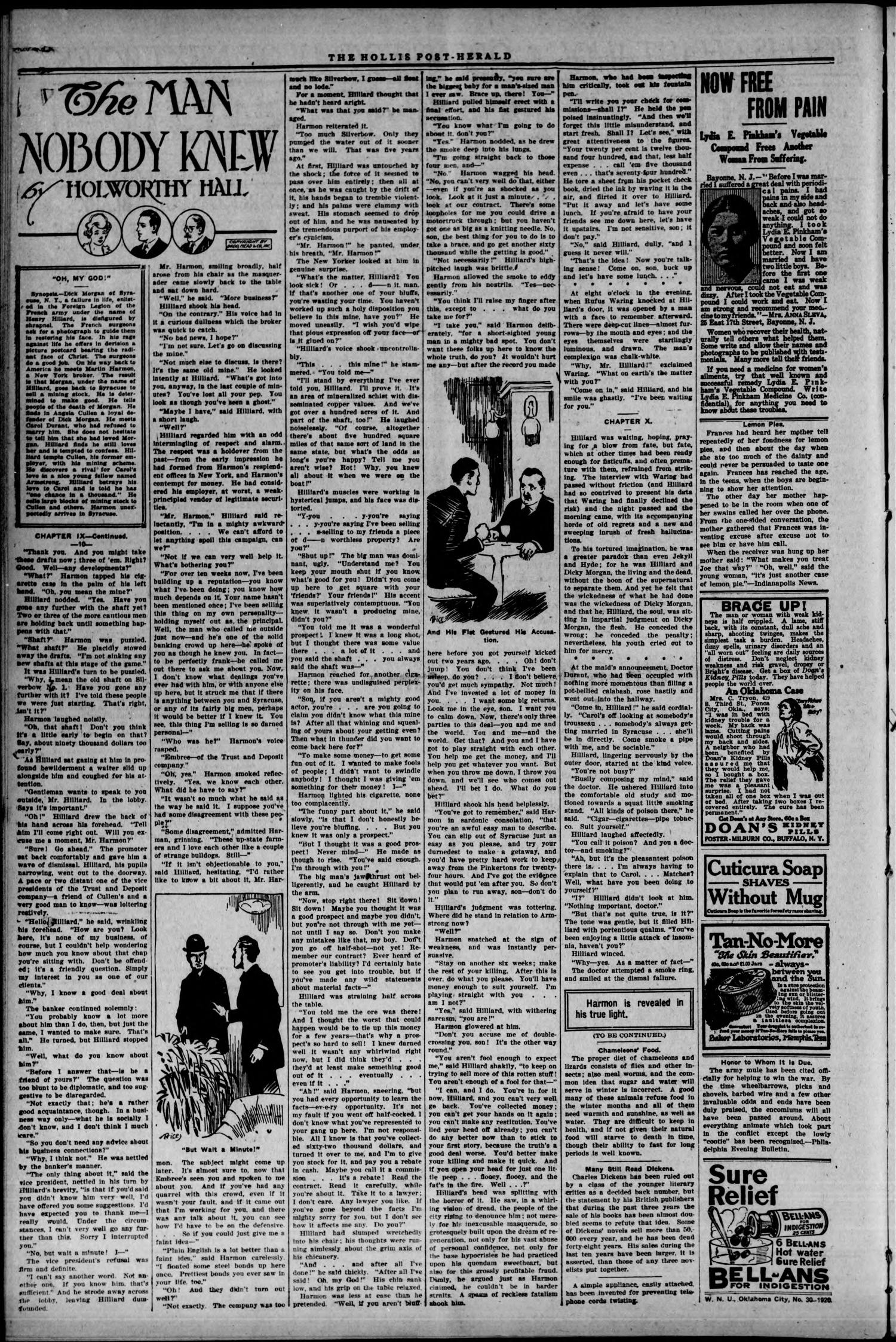 Hollis Post-Herald. (Hollis, Okla.), Vol. 17, No. 36, Ed. 1 Thursday, July 22, 1920                                                                                                      [Sequence #]: 2 of 8
