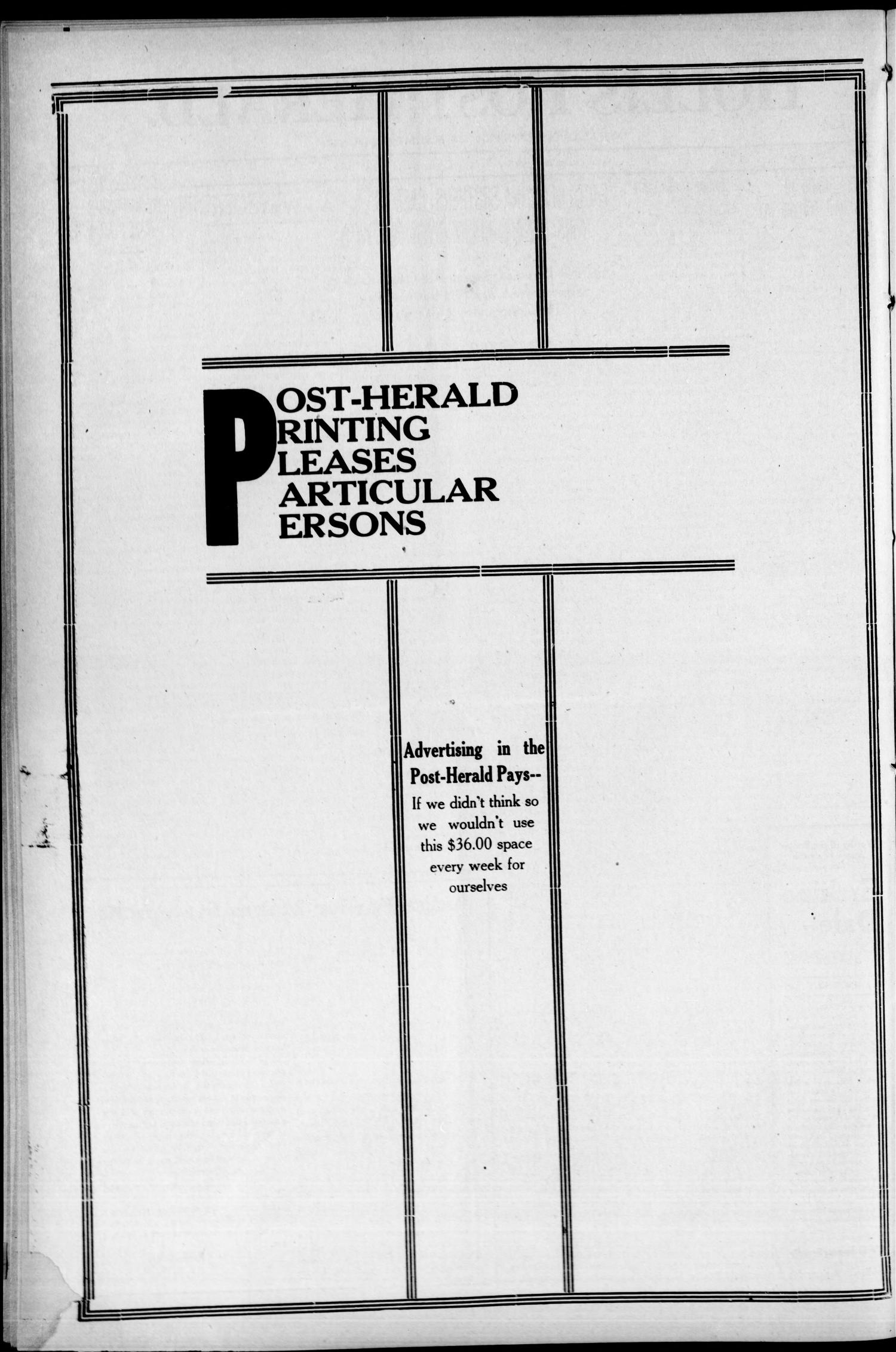 Hollis Post-Herald. (Hollis, Okla.), Vol. 19, No. 36, Ed. 1 Thursday, July 20, 1922                                                                                                      [Sequence #]: 2 of 8
