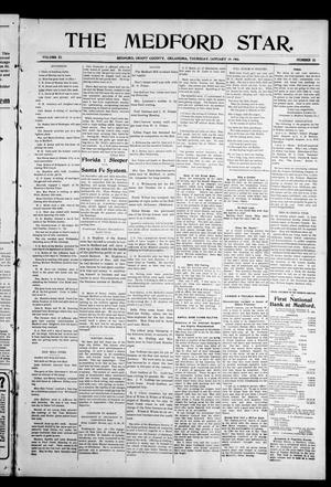 Primary view of object titled 'The Medford Star. (Medford, Okla.), Vol. 11, No. 33, Ed. 1 Thursday, January 19, 1905'.