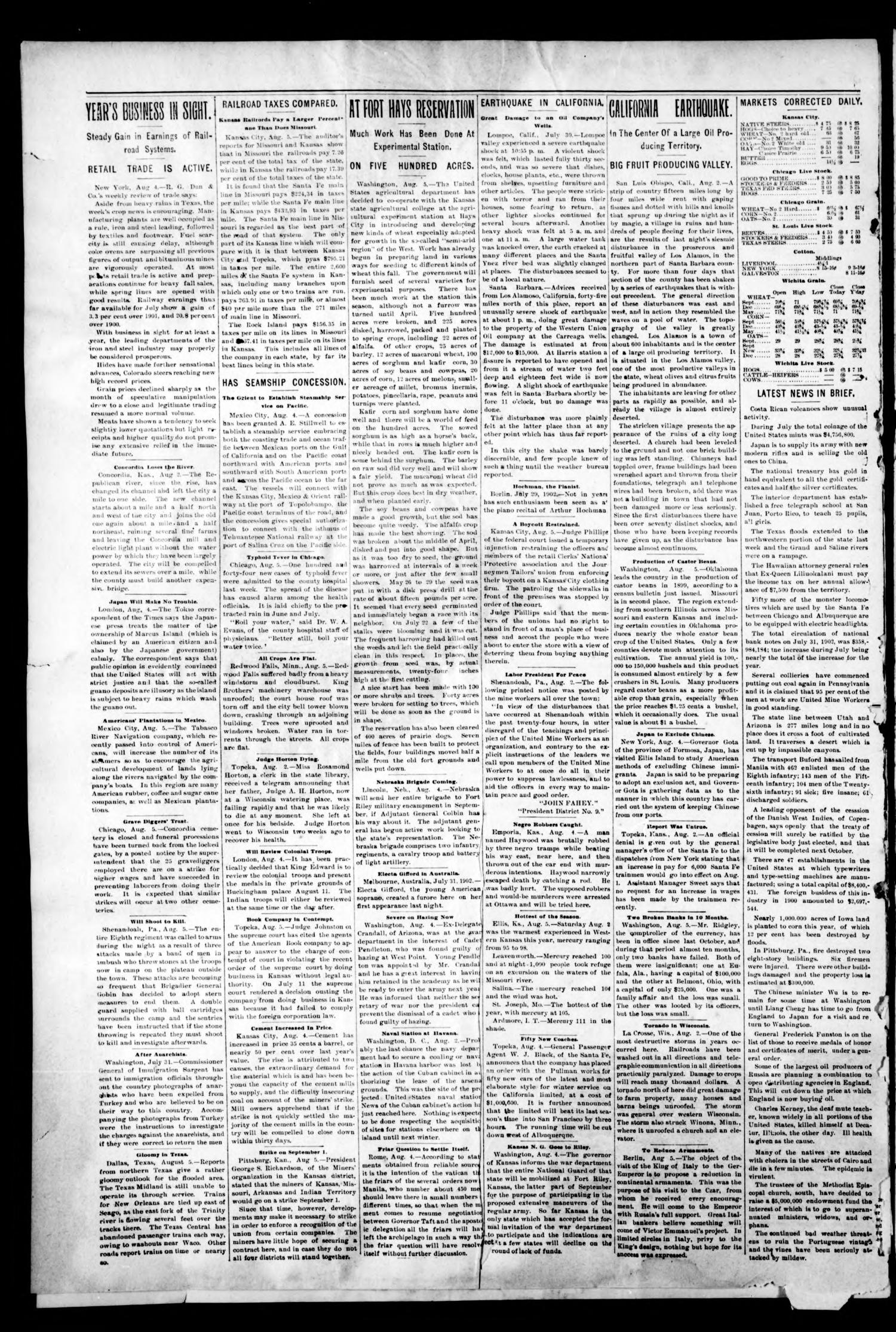 The Medford Patriot. (Medford, Okla. Terr.), Vol. 4, No. 43, Ed. 1 Thursday, August 7, 1902                                                                                                      [Sequence #]: 2 of 11