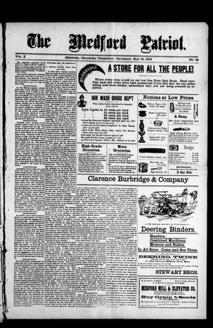Primary view of The Medford Patriot. (Medford, Okla. Terr.), Vol. 5, No. 32, Ed. 1 Thursday, May 21, 1903