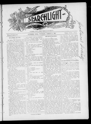 Primary view of object titled 'The Searchlight (Guthrie, Okla.), Vol. 4, No. 369, Ed. 1 Tuesday, March 13, 1906'.