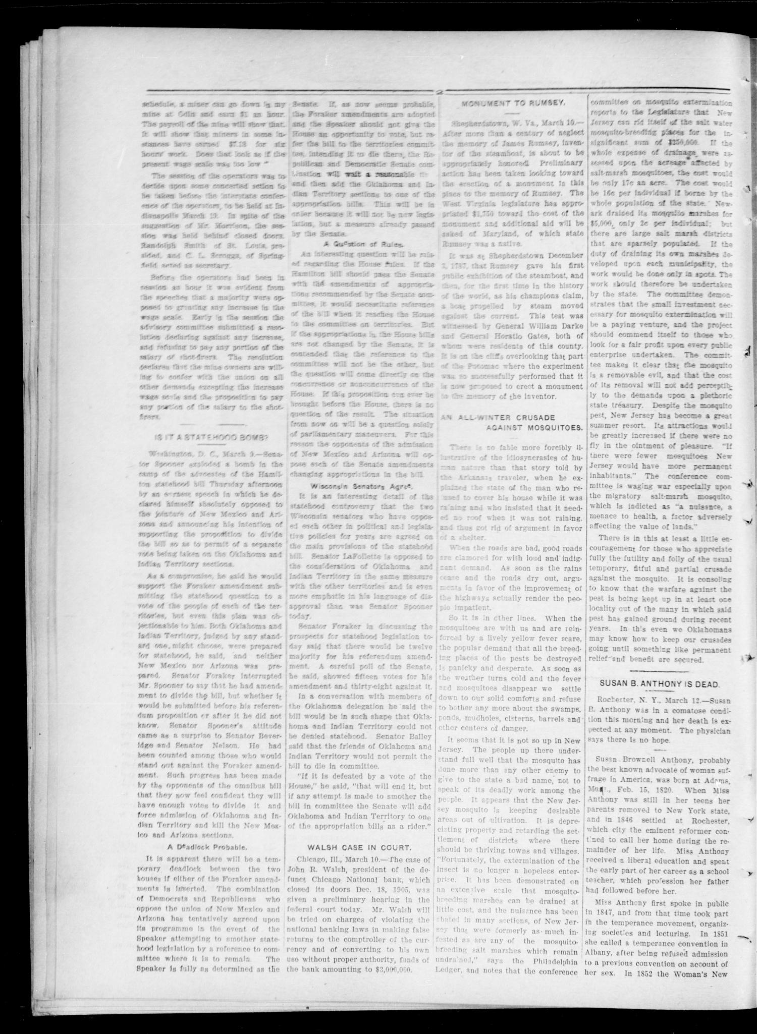 The Searchlight (Guthrie, Okla.), Vol. 4, No. 369, Ed. 1 Tuesday, March 13, 1906                                                                                                      [Sequence #]: 2 of 8