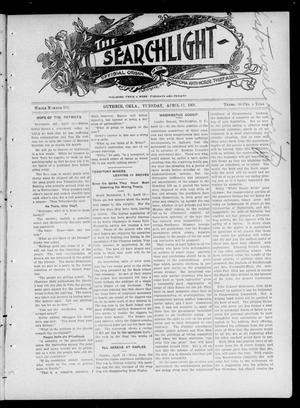 Primary view of object titled 'The Searchlight (Guthrie, Okla.), Vol. 4, No. 379, Ed. 1 Tuesday, April 17, 1906'.