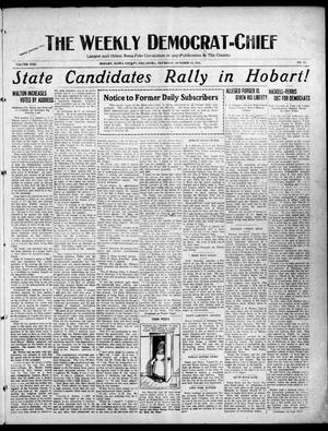 Primary view of object titled 'The Weekly Democrat-Chief (Hobart, Okla.), Vol. 22, No. 11, Ed. 1 Thursday, October 12, 1922'.