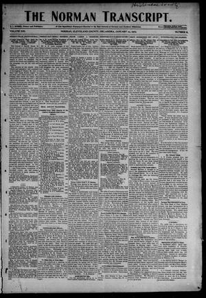 Primary view of object titled 'The Norman Transcript. (Norman, Okla.), Vol. 13, No. 11, Ed. 1 Thursday, January 23, 1902'.