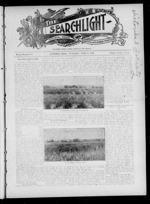 Primary view of object titled 'The Searchlight (Guthrie, Okla.), Vol. 4, No. 397, Ed. 1 Tuesday, June 19, 1906'.