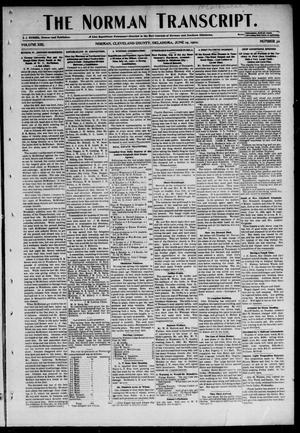 Primary view of object titled 'The Norman Transcript. (Norman, Okla.), Vol. 13, No. 32, Ed. 1 Thursday, June 19, 1902'.