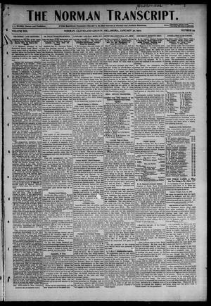 Primary view of object titled 'The Norman Transcript. (Norman, Okla.), Vol. 13, No. 12, Ed. 1 Thursday, January 30, 1902'.