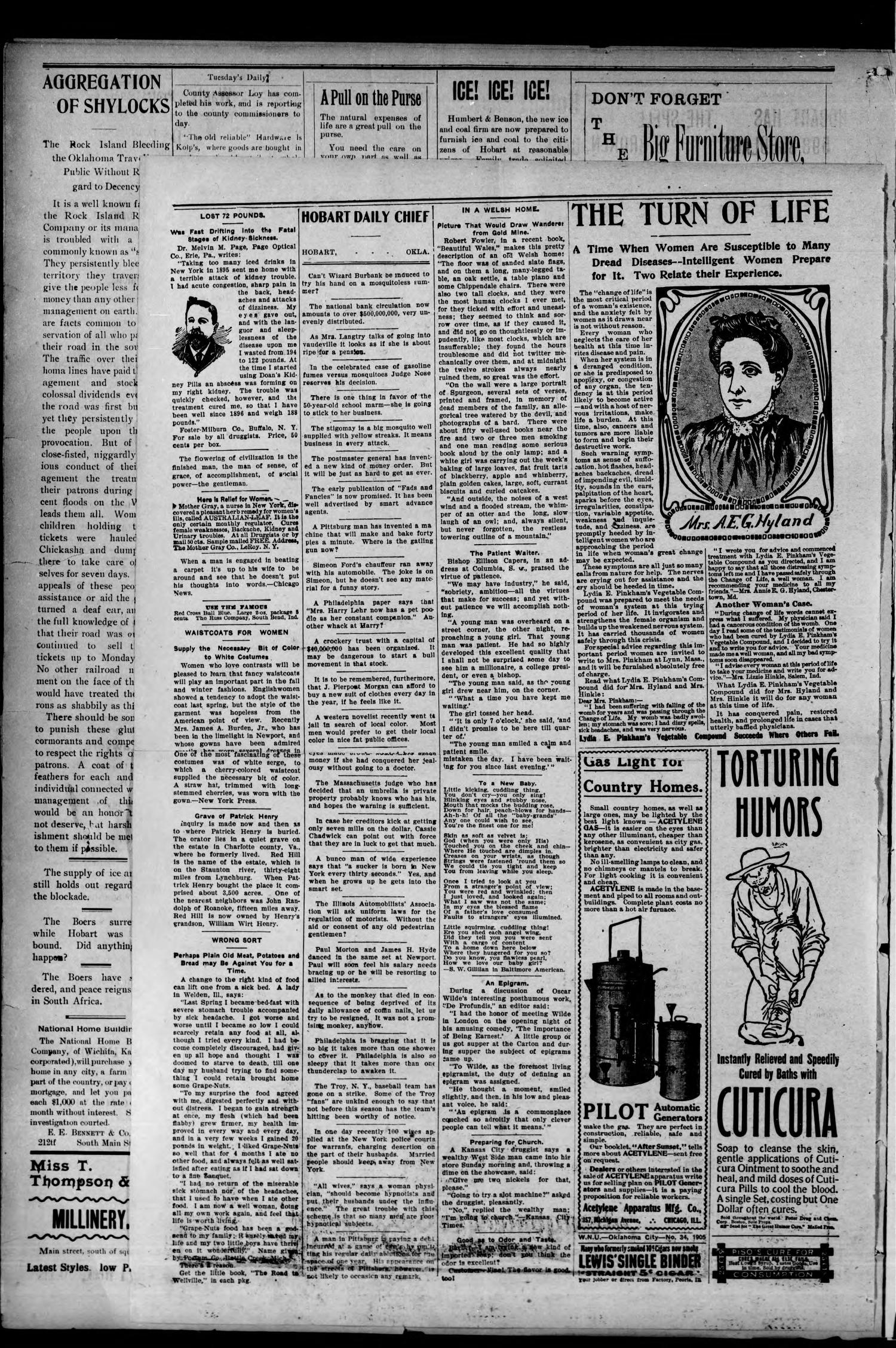 The Daily Chief (Hobart, Okla.), Vol. 3, No. 521, Ed. 1 Monday, September 7, 1903                                                                                                      [Sequence #]: 2 of 4