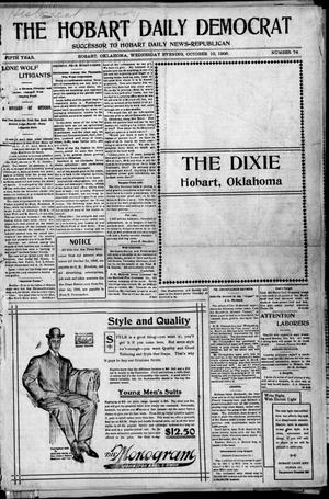 Primary view of object titled 'The Hobart Daily Democrat (Hobart, Okla.), Vol. 5, No. 74, Ed. 1 Wednesday, October 10, 1906'.