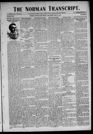 Primary view of object titled 'The Norman Transcript. (Norman, Okla.), Vol. 13, No. 28, Ed. 1 Thursday, May 22, 1902'.