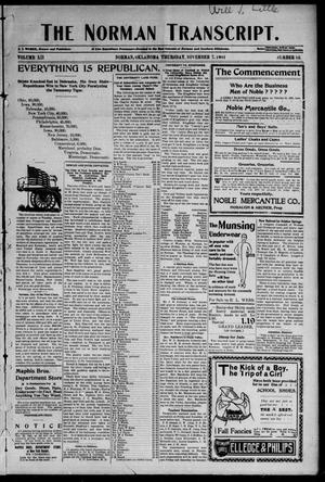 Primary view of object titled 'The Norman Transcript. (Norman, Okla.), Vol. 12, No. 52, Ed. 1 Thursday, November 7, 1901'.
