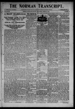 Primary view of object titled 'The Norman Transcript. (Norman, Okla.), Vol. 13, No. 20, Ed. 1 Thursday, March 27, 1902'.