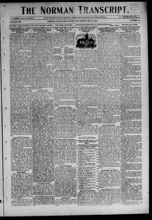 Primary view of object titled 'The Norman Transcript. (Norman, Okla.), Vol. 13, No. 26, Ed. 1 Thursday, May 8, 1902'.