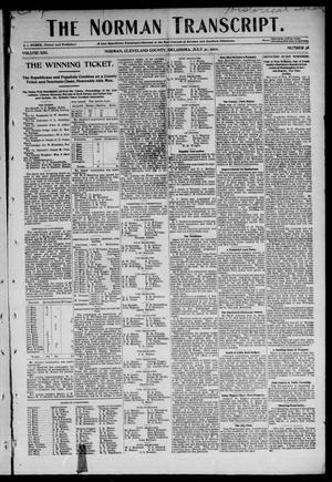 Primary view of object titled 'The Norman Transcript. (Norman, Okla.), Vol. 13, No. 38, Ed. 1 Thursday, July 31, 1902'.