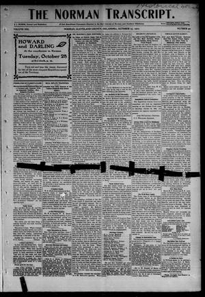 Primary view of object titled 'The Norman Transcript. (Norman, Okla.), Vol. 13, No. 50, Ed. 1 Thursday, October 23, 1902'.