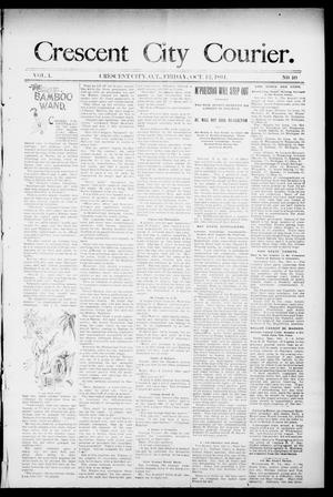 Primary view of object titled 'Crescent City Courier. (Crescent City, Okla. Terr.), Vol. 1, No. 40, Ed. 1 Friday, October 12, 1894'.