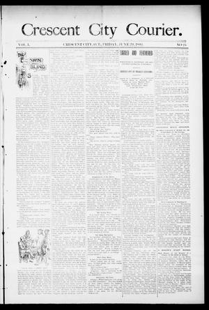 Primary view of object titled 'Crescent City Courier. (Crescent City, Okla. Terr.), Vol. 1, No. 25, Ed. 1 Friday, June 29, 1894'.