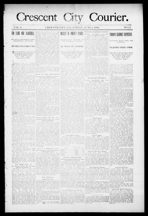 Primary view of object titled 'Crescent City Courier. (Crescent City, Okla. Terr.), Vol. 1, No. 21, Ed. 1 Friday, June 1, 1894'.